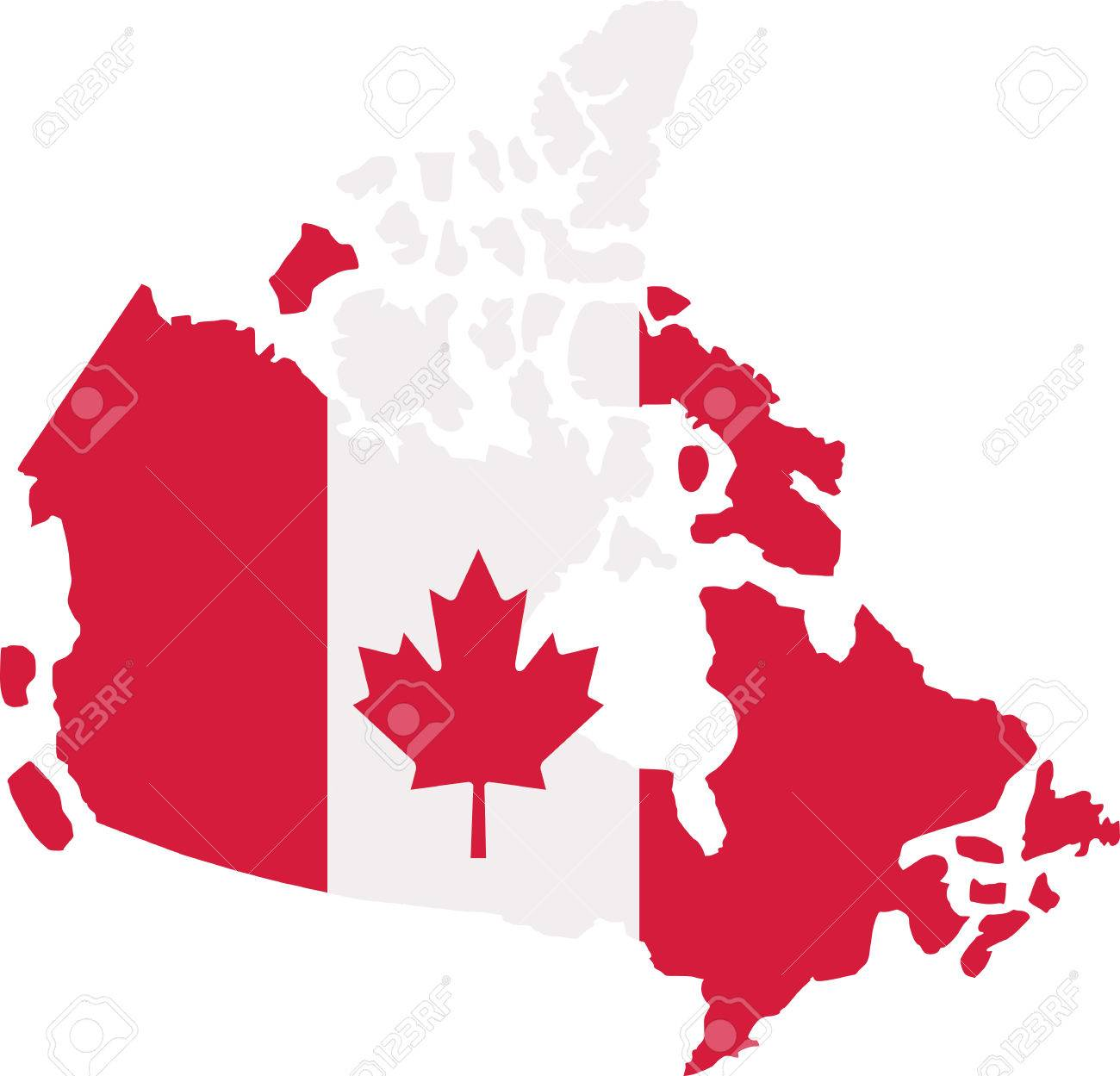 canada map with canadian flag royalty free cliparts vectors and rh 123rf com canada flag vector file canada flag vector image