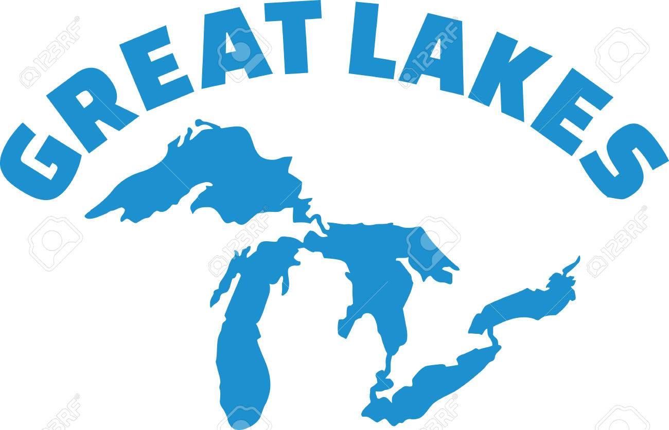 great lakes silhouette with name royalty free cliparts vectors and