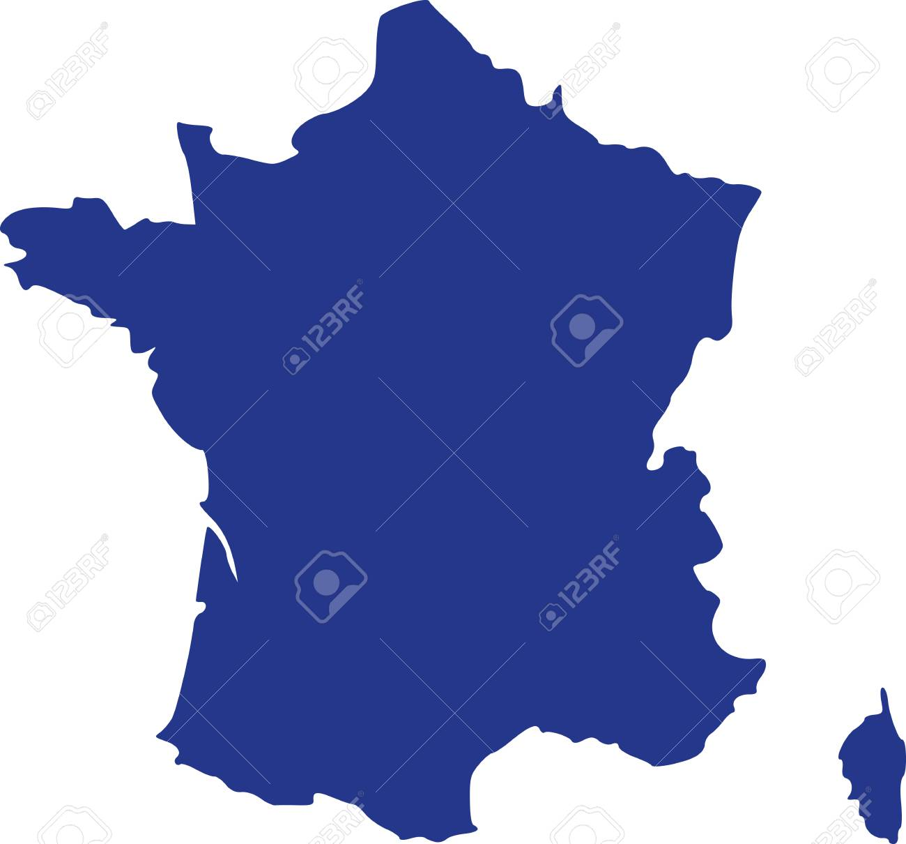 France Map With Corsica Royalty Free Cliparts Vectors And Stock