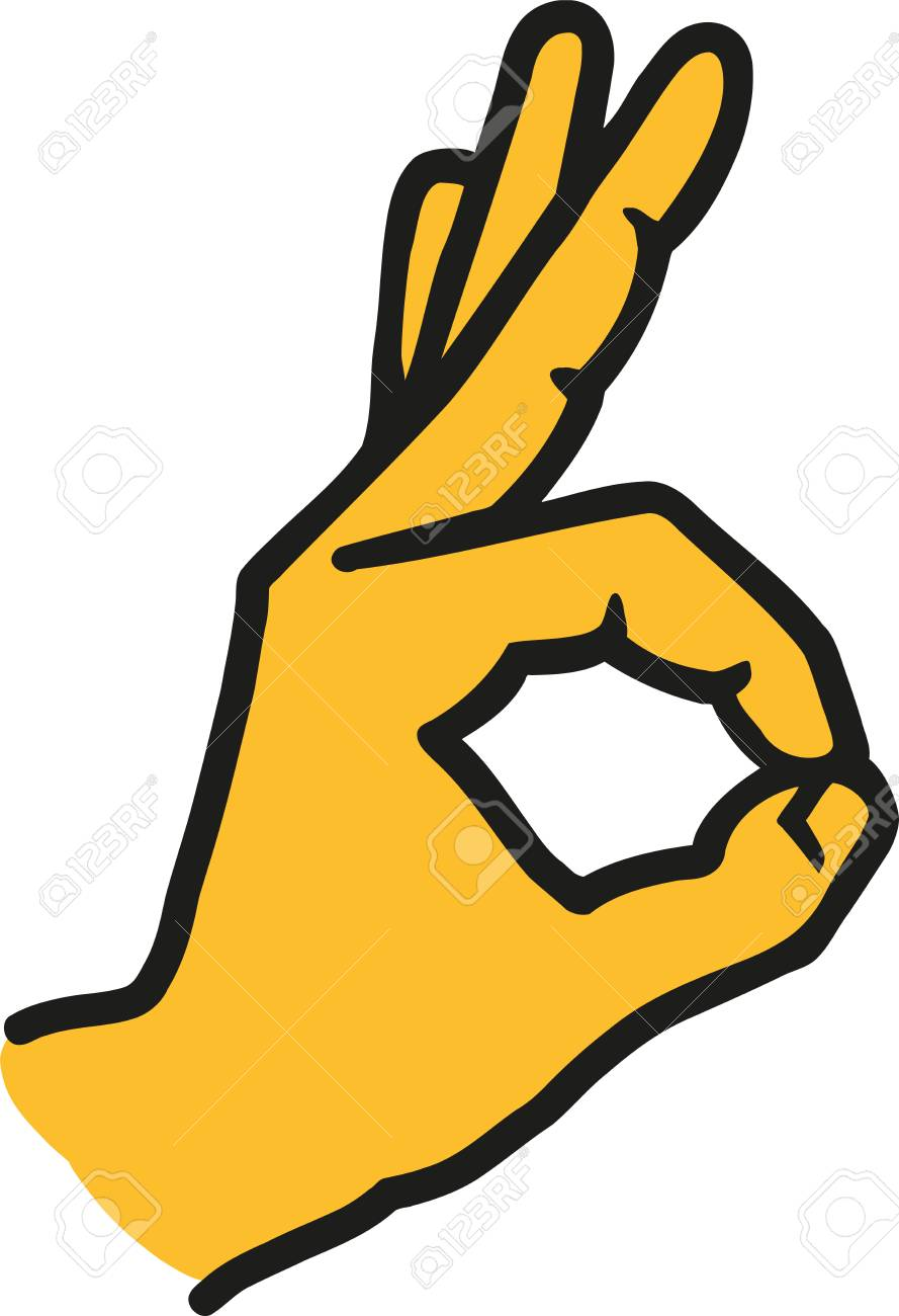 Ok Sign Hand Icon Royalty Free Cliparts Vectors And Stock Illustration Image 67594741