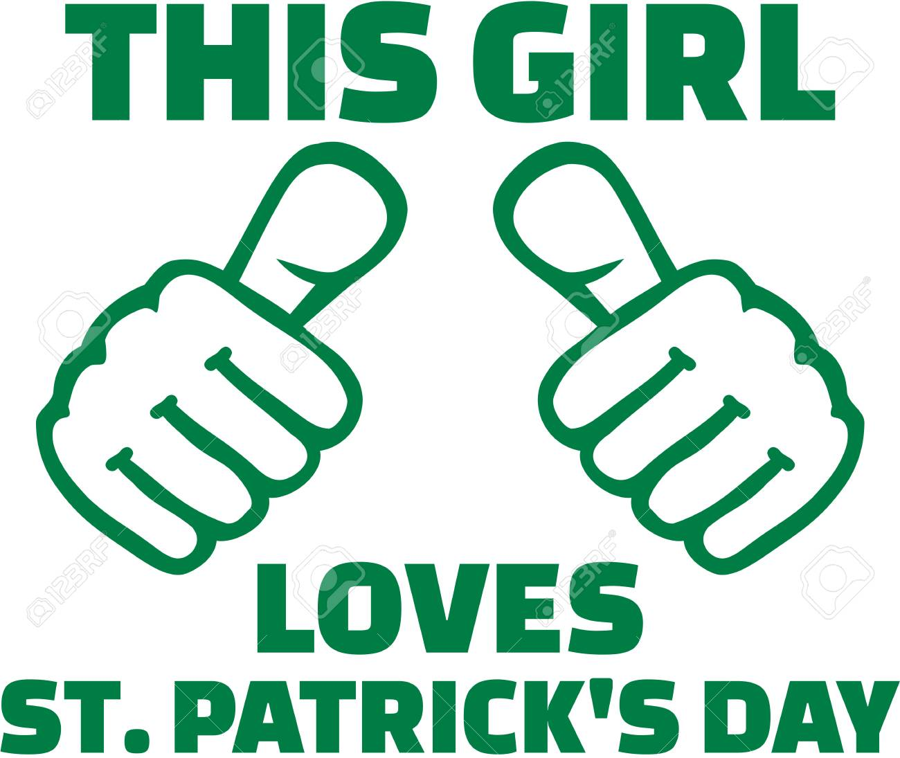 44026a48d This girl loves St. Patricks day - T-Shirt design Stock Vector - 70069190