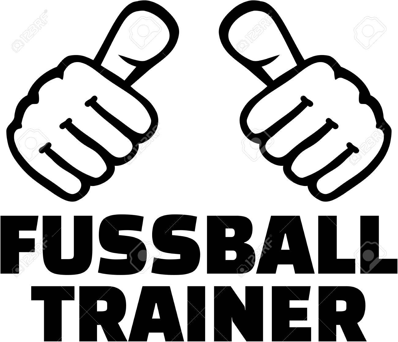 Soccer Coach With Thumbs German T Shirt Design