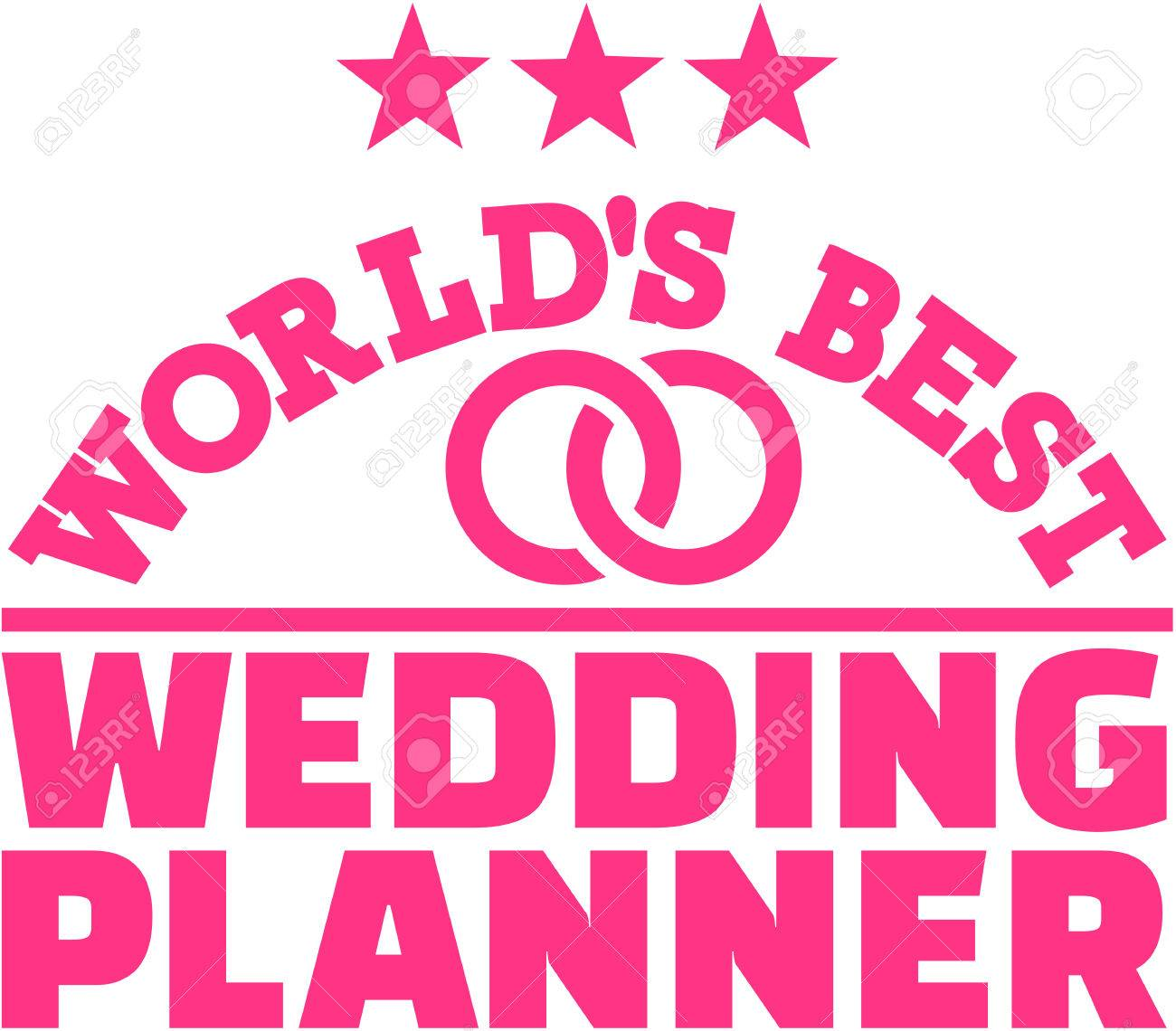Worlds Best Wedding Planner Stock Vector