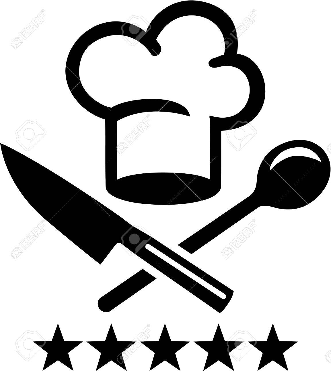 Chef Hat With Crossed Knife And Wooden Spoon Royalty Free Cliparts Vectors And Stock Illustration Image 81569110 Download chefs hat images and photos. chef hat with crossed knife and wooden spoon
