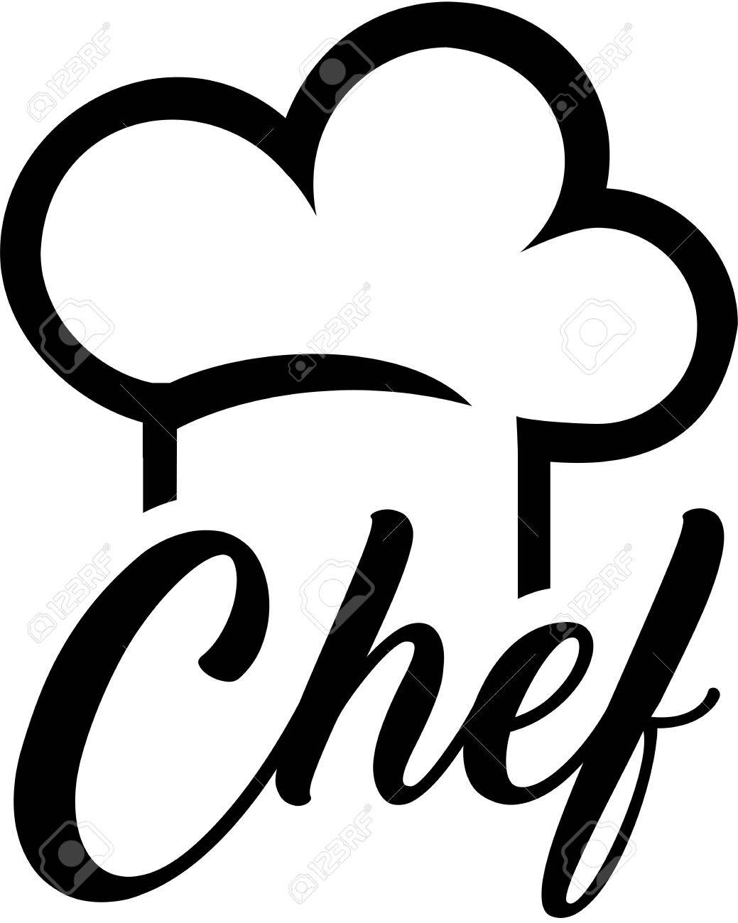 chef hat with chef word royalty free cliparts vectors and stock rh 123rf com chef hat clip art images chef hat clipart transparent