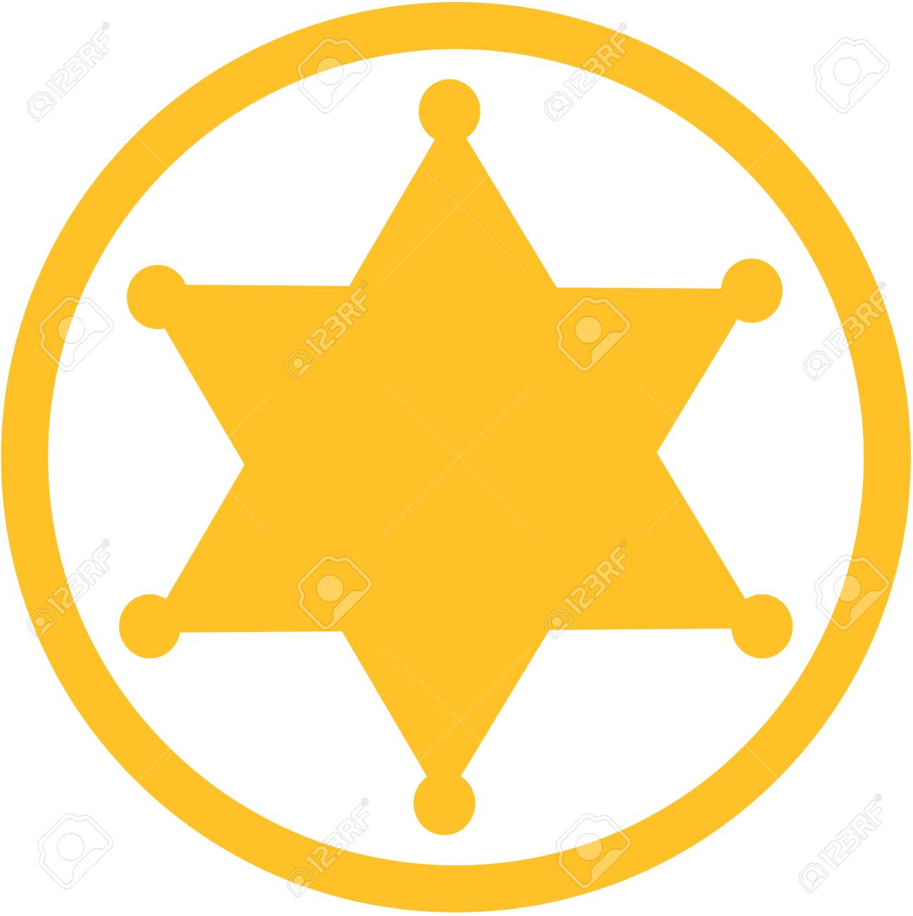 sheriff star icon royalty free cliparts vectors and stock rh 123rf com sheriff badge vector free deputy sheriff badge vector