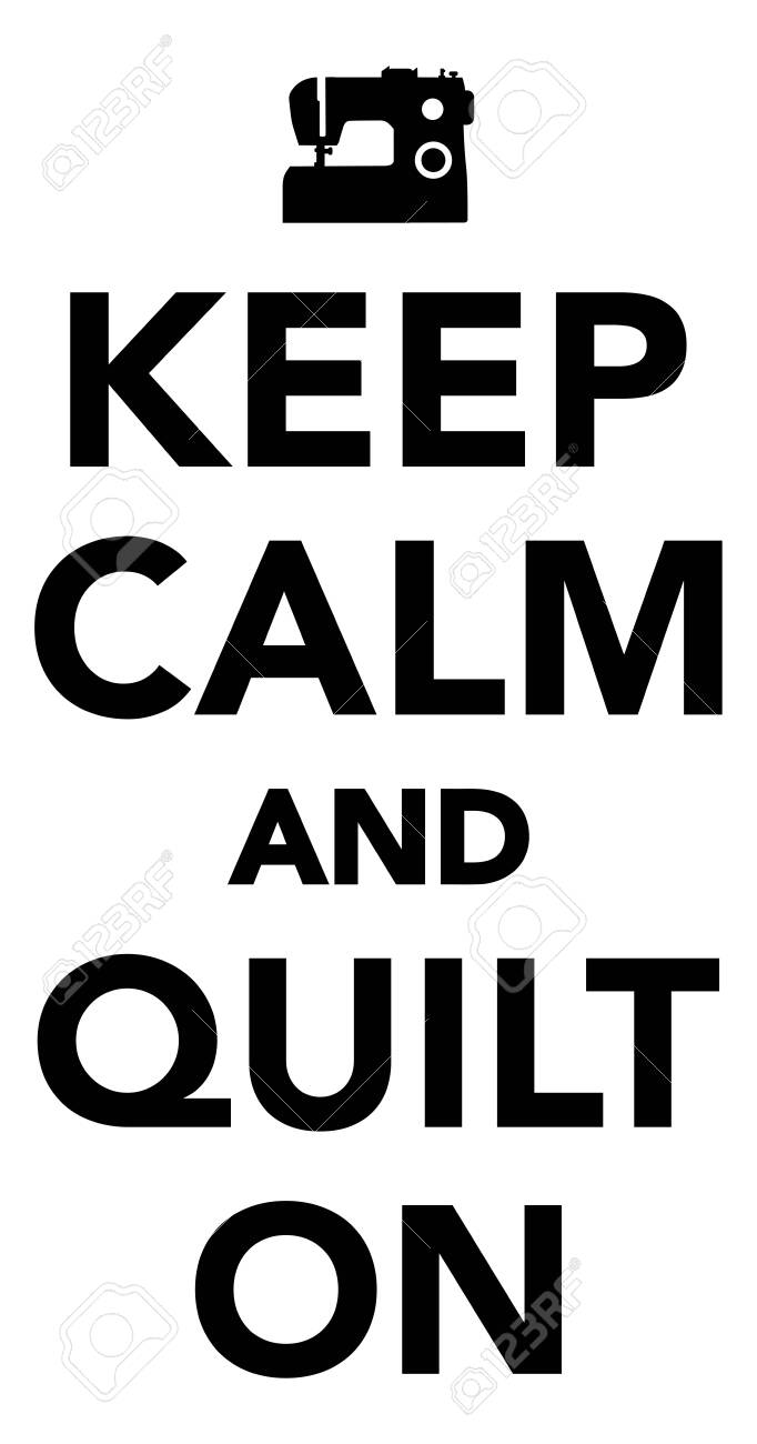 Keep calm and quilt on quilting icon - 139820583