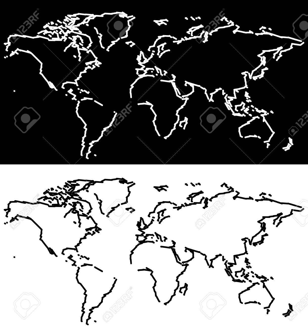 World map scribble outlines black and white royalty free cliparts world map scribble outlines black and white stock vector 35845822 gumiabroncs Gallery