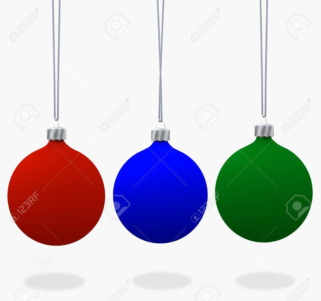 Blue green christmas tree decorations - Assorment Of Christmas Ornaments In Velvet Flat Matte Red Blue Green