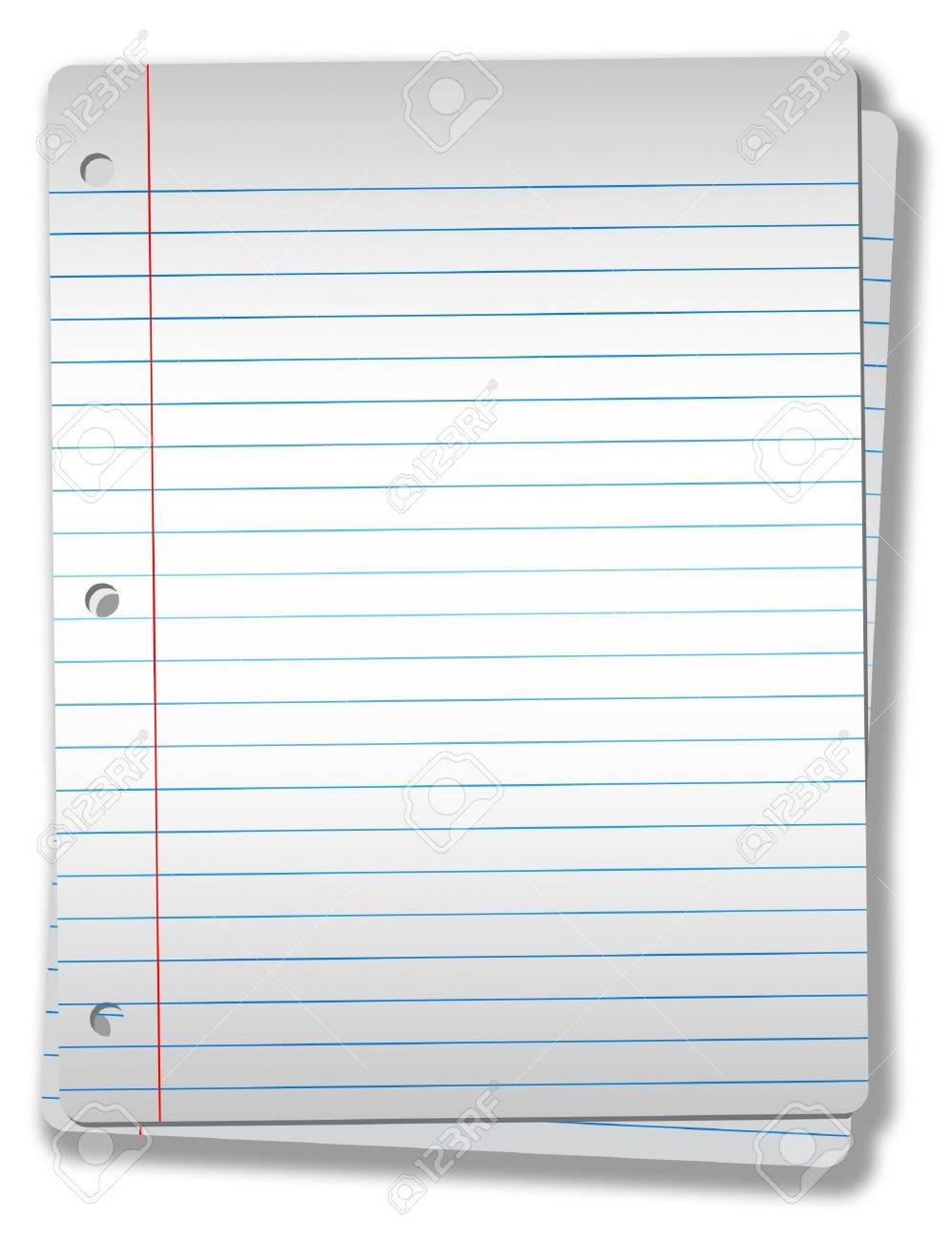 Pages Of Wide Ruled Notebook Paper On Solid Gray Background – Loose Leaf Paper Background