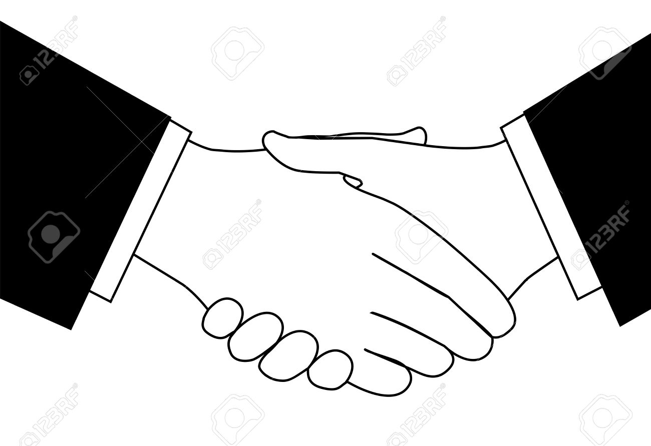 handshake clipart sketch of business people shaking hands to rh 123rf com vector handshake icon handshake vector icon free