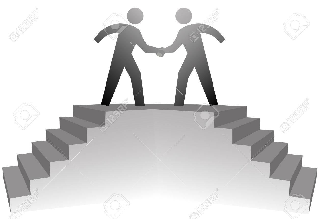 2 つのビジネスの人々 は契約の...