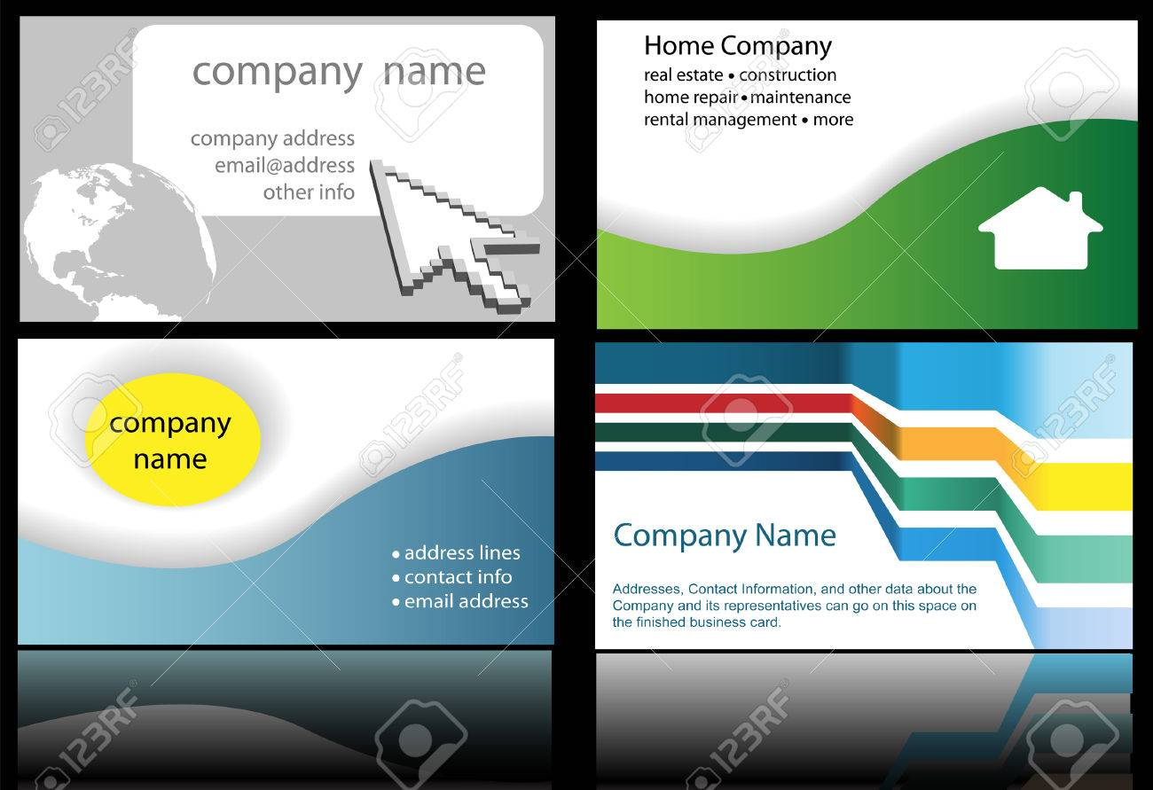 Four Abstract And Internet Website Home And Technology Business ...