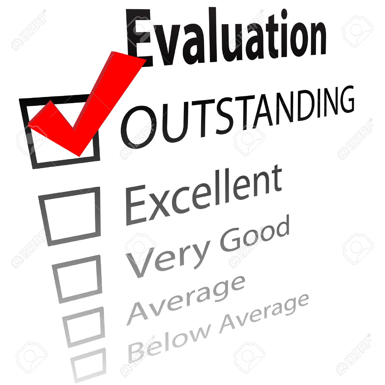 outstanding  An evaluation  Outstanding Clip Art