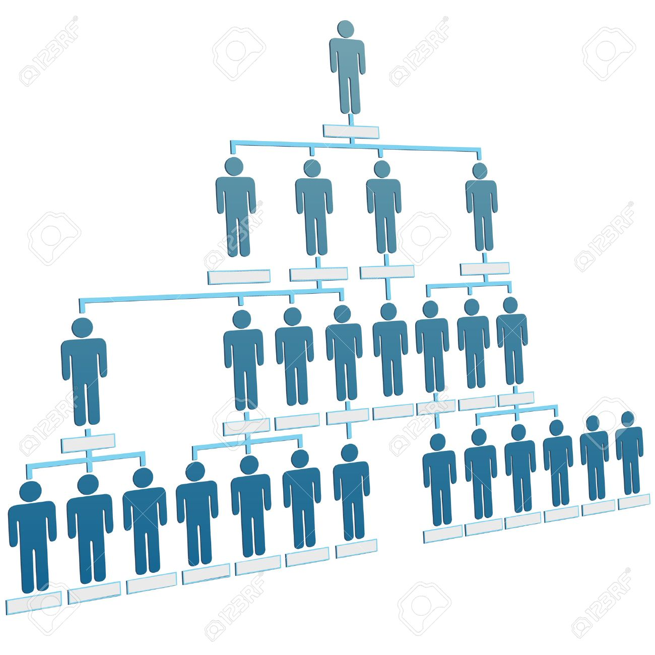 Organizational Corporate Hierarchy Chart Of A Company Of Symbol ...