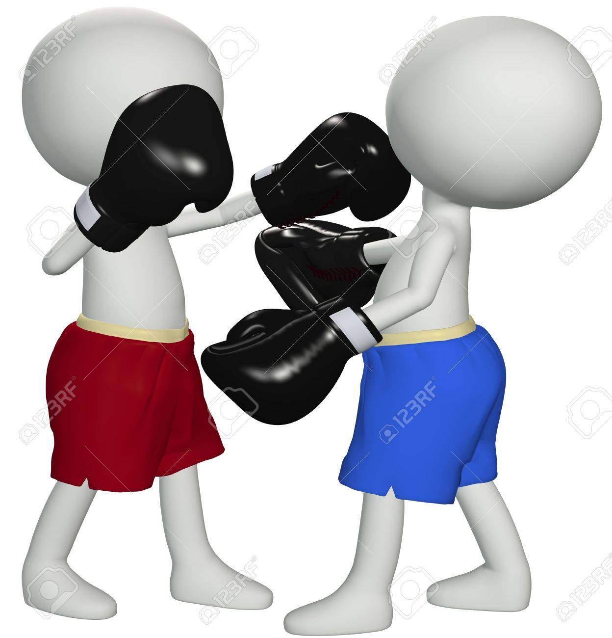 Two boxers square off in a championship boxing match prize fight Stock Photo - 8172952