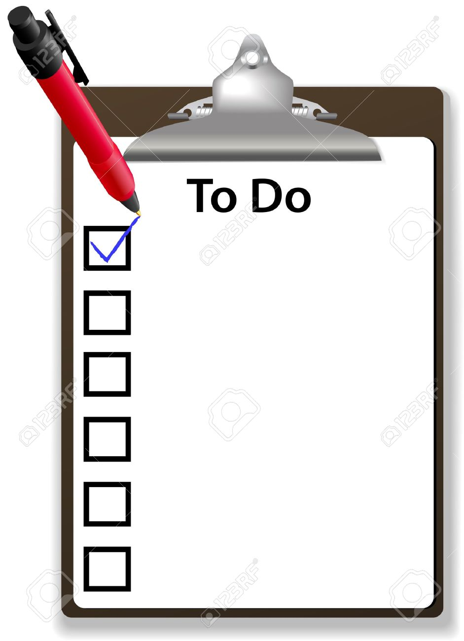 copy space background for your text list on to do list with check
