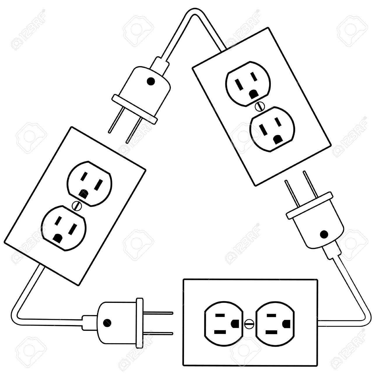 recycle electric energy symbol as electrical outlets plugs and rh 123rf com power outlet drawing symbol electrical outlet drawing autocad blocks