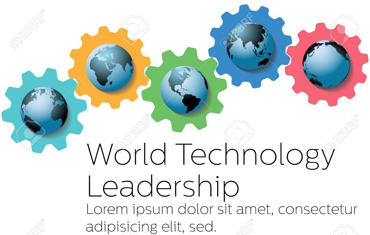 Global technology leadership gears as symbols of world royalty global technology leadership gears as symbols of world stock vector 16821636 biocorpaavc