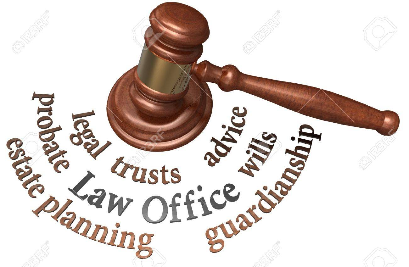 Gavel with legal concepts of estate planning probate wills attorney Stock Photo - 19706968