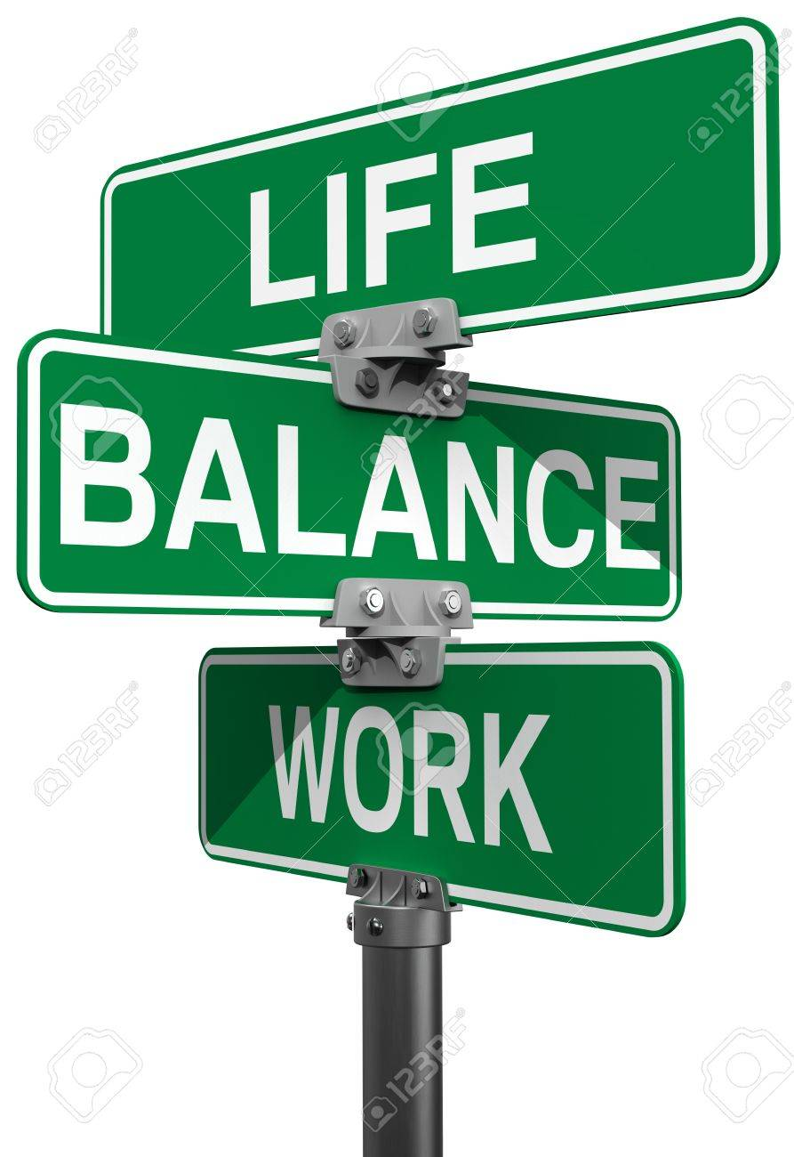 Signs choose between Work Life or Balance directions Stock Photo - 19706973