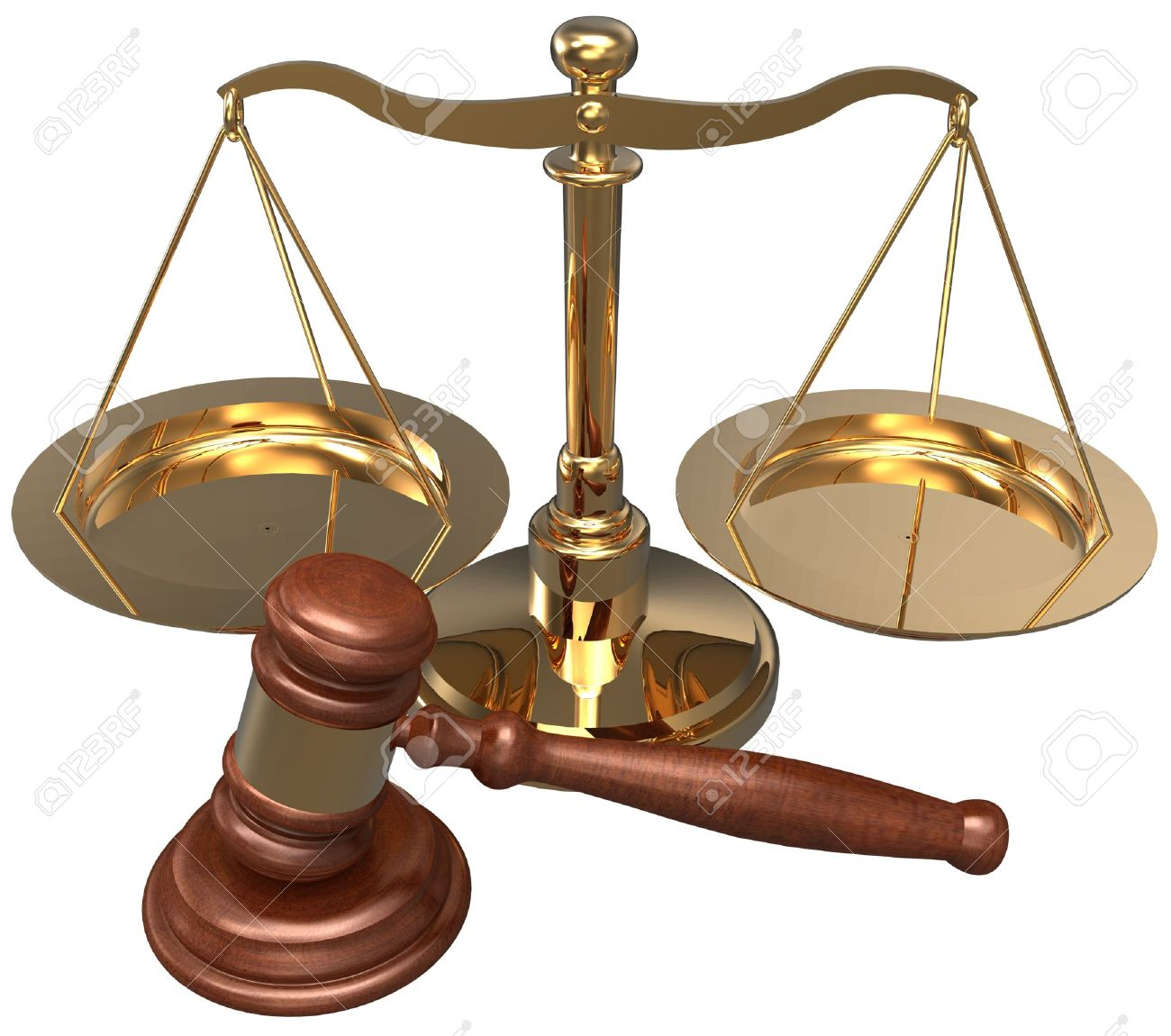 Scale and gavel as symbols of  law office lawyer attorney legal concepts Stock Photo - 20238675