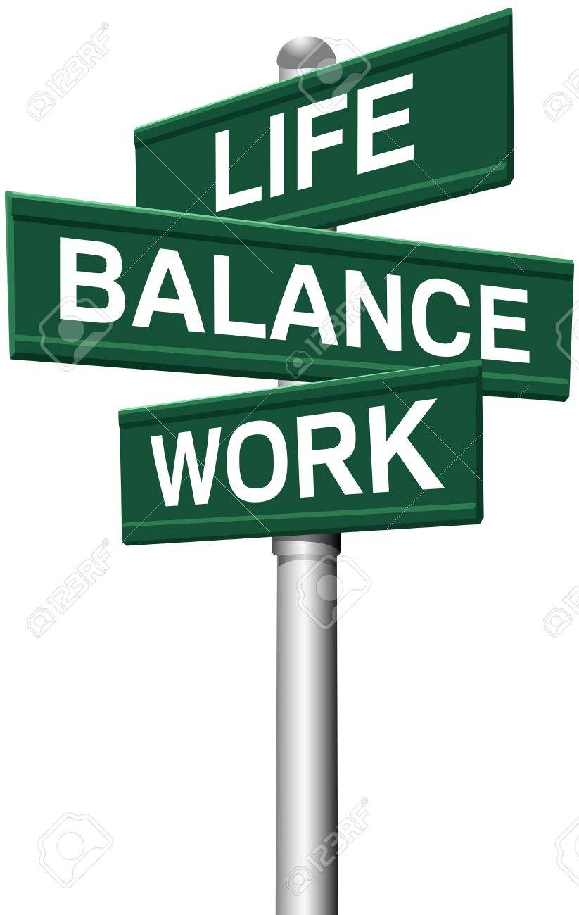 Signs choose between Work Life or Balance directions Stock Vector - 20896892