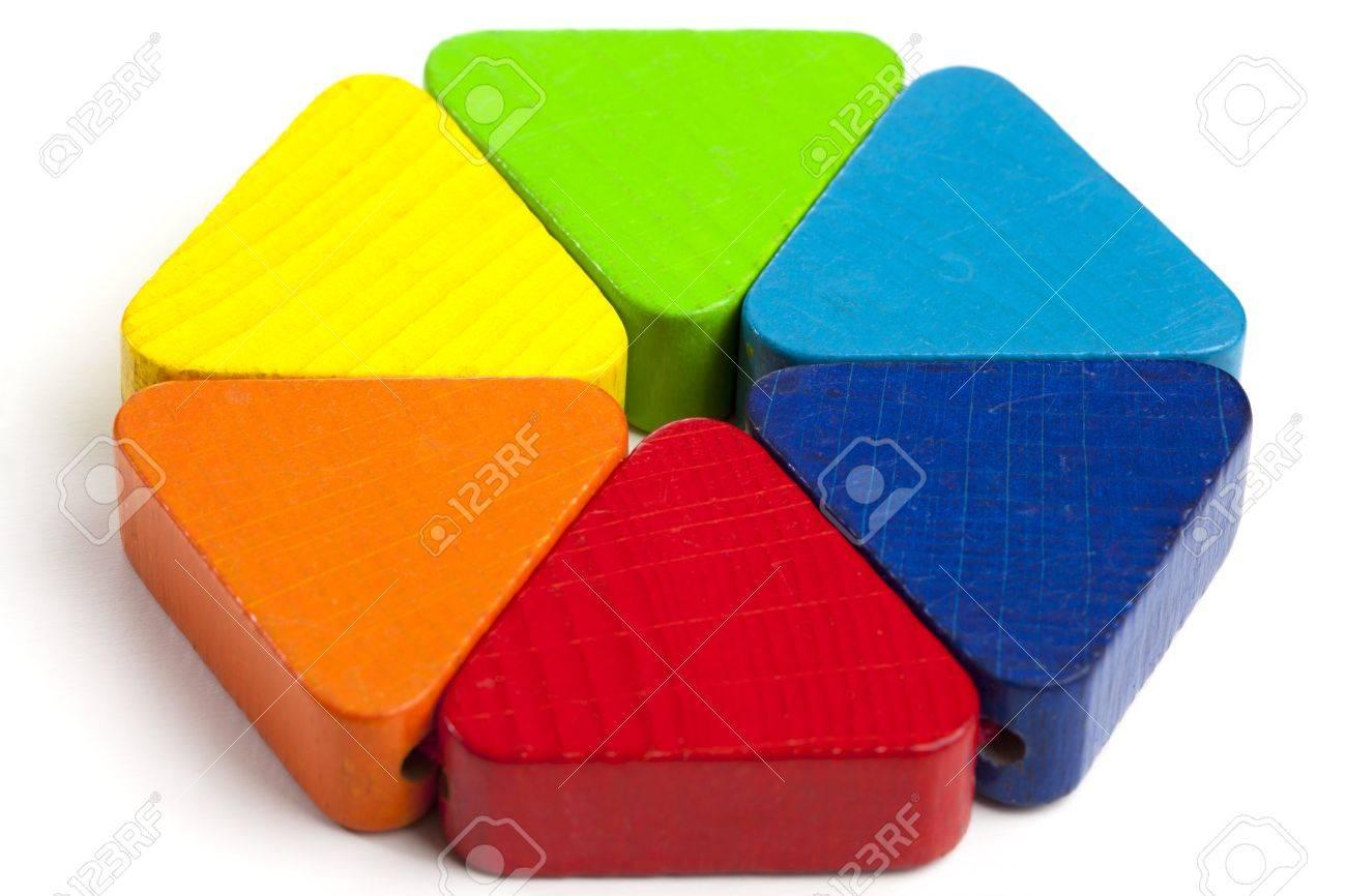 Niños Habilidades Bebés Colores De Hexagon Y Triángulos Para Mechnical Un Construir En Alegría Aprender Madera AnilloJuguetes Pequeños txshQrCd