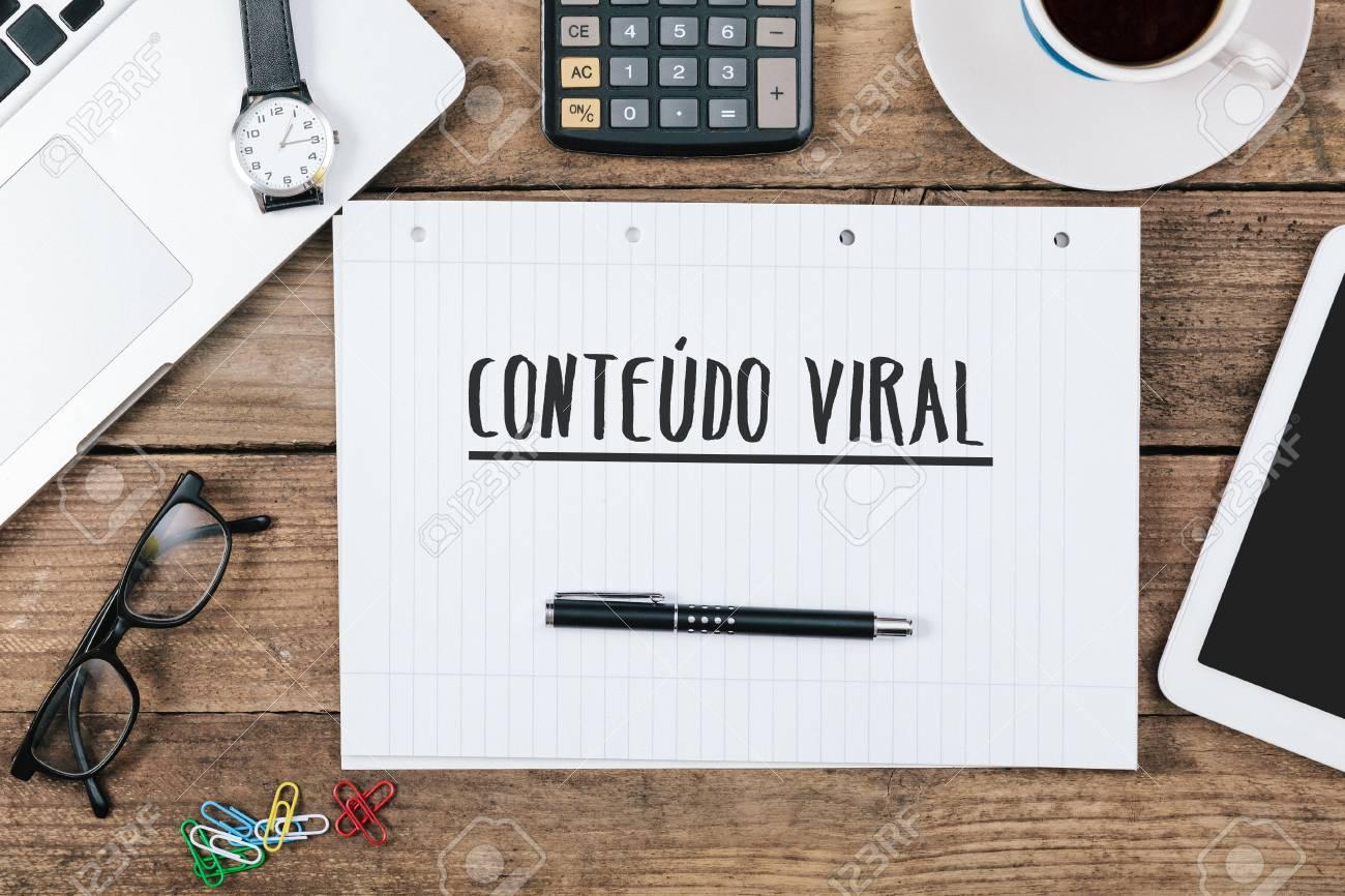 Conteudo viral texte portugais pour le contenu viral sur bloc