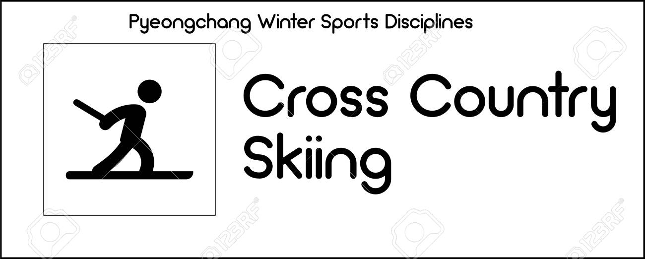 Series of icons, depicting Cross Country Skiing discipline in