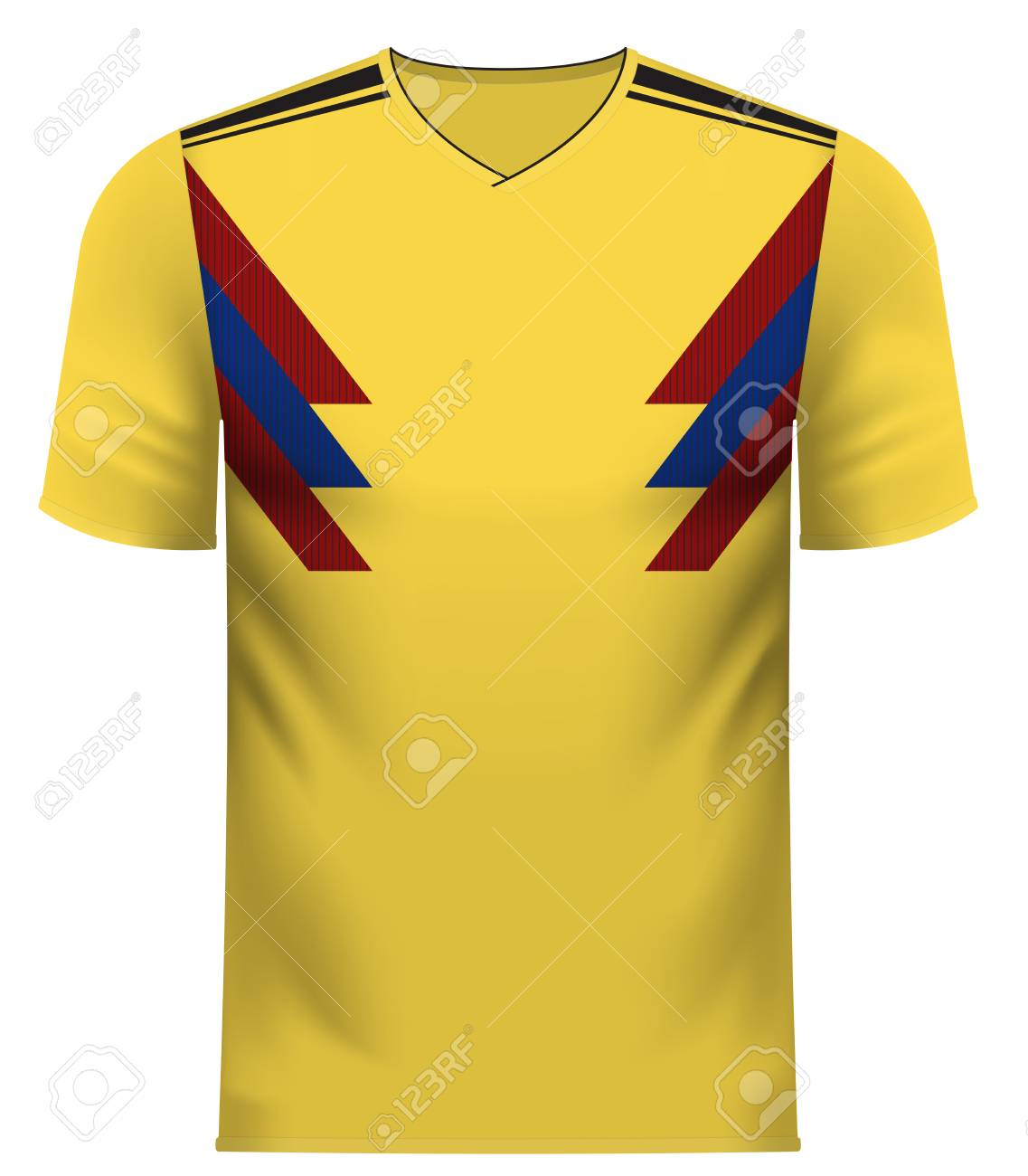 promo code af81b 1d305 Colombia national soccer team shirt in generic country colors..