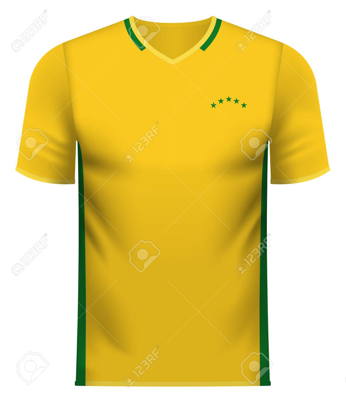 45824b03bd6 Brazil national soccer team shirt in generic country colors for fan apparel.  Stock Vector -