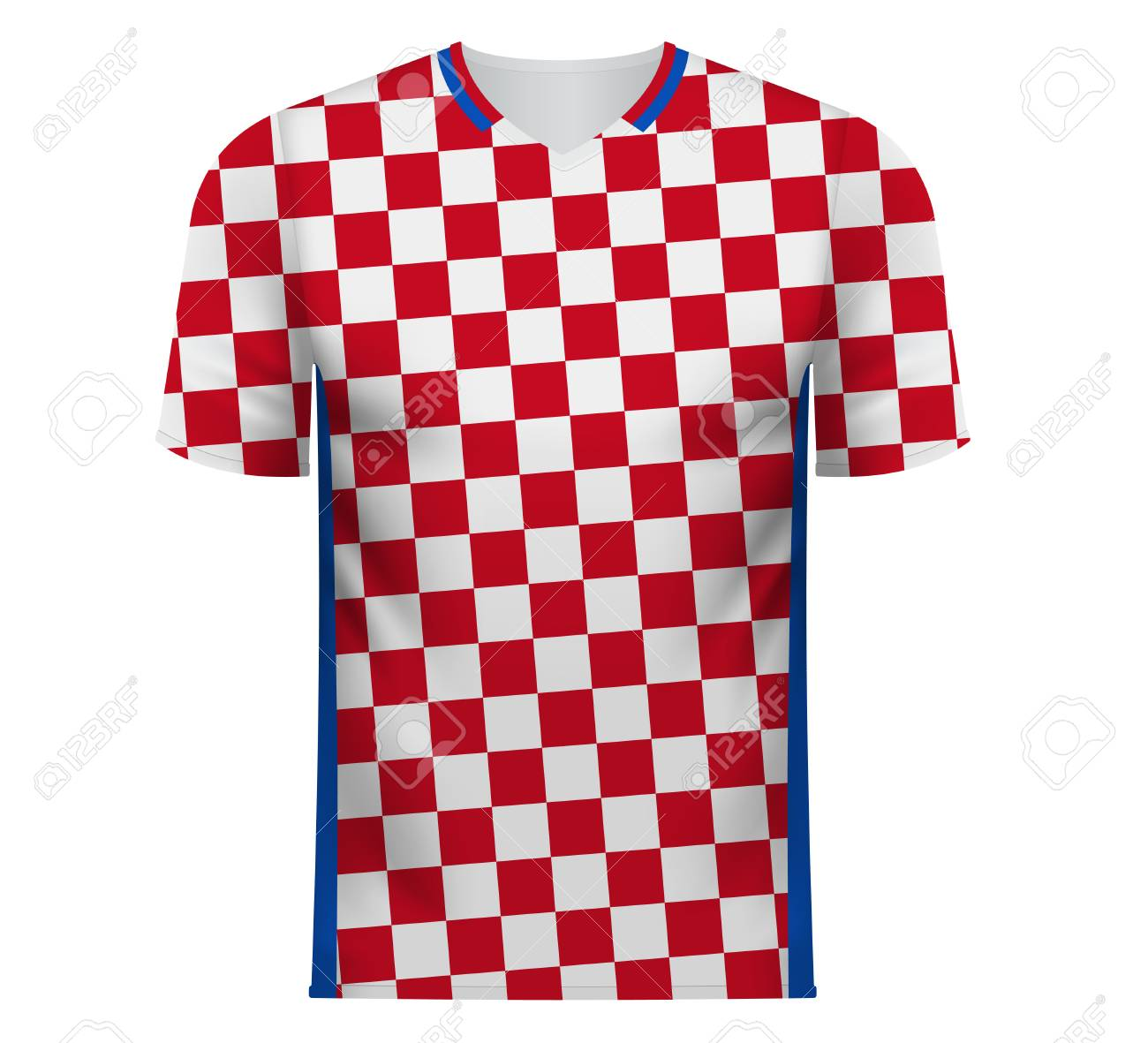 Croatia national soccer team shirt in generic country colors for fan  apparel. Stock Vector - 4b62d4681