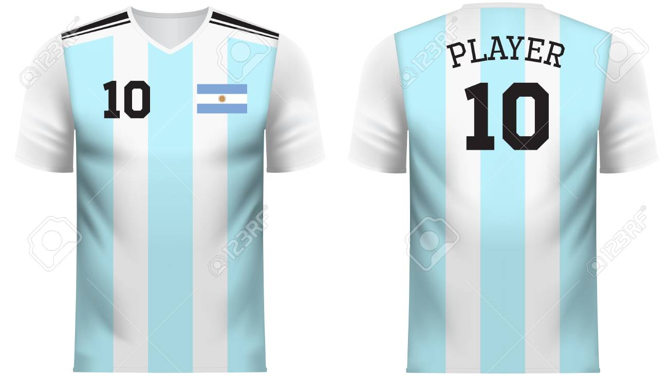 the best attitude 4bedc b1504 Argentina national soccer team shirt in generic country colors..