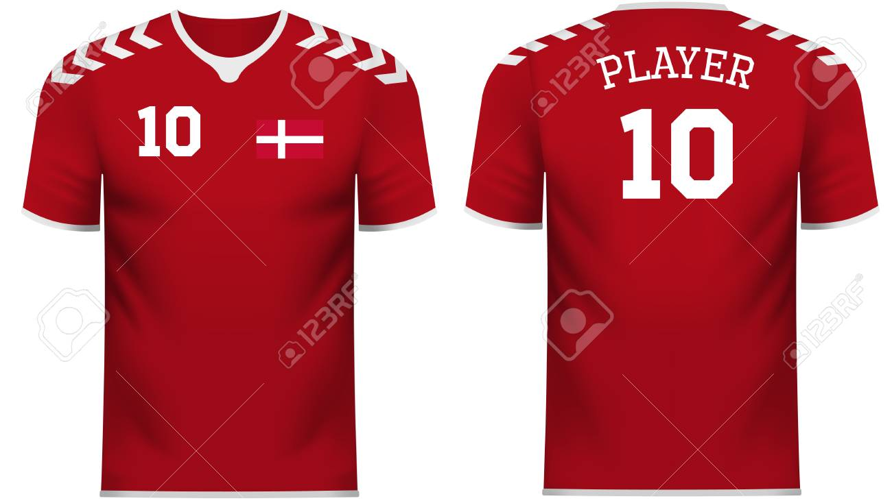 pretty nice 5ef78 15d82 Denmark national soccer team shirt in generic country colors..