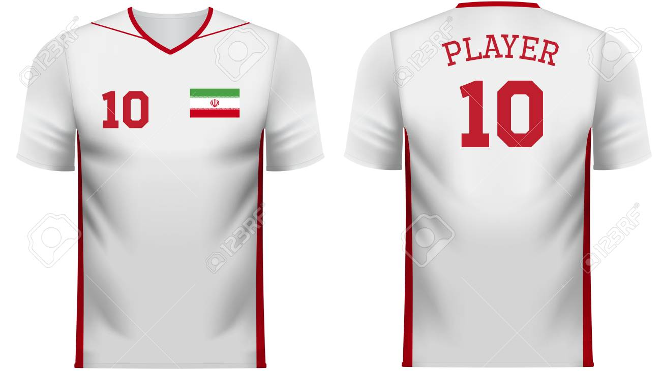 new style 54775 edf31 Iran national soccer team shirt in generic country colors for..