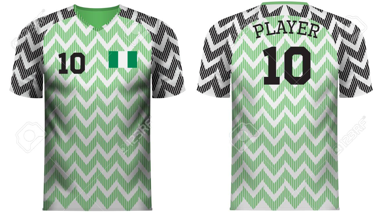 hot sale online 0aa29 f0dc7 Nigeria national soccer team shirt in generic country colors..