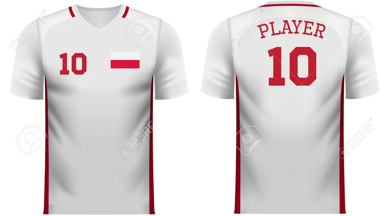 best wholesaler 1fd1d 3019c Poland national soccer team shirt in generic country colors for..