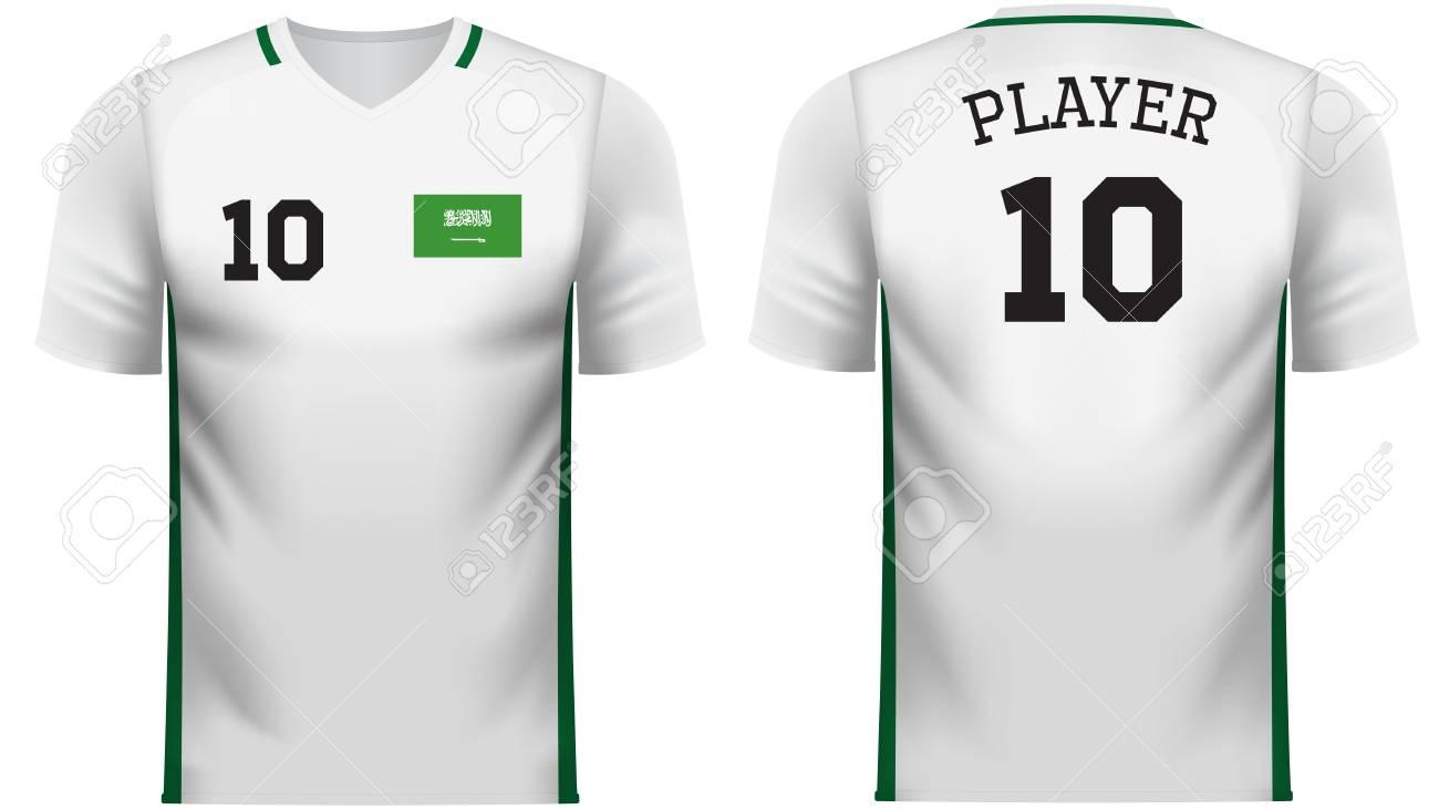 half off baa65 aa2aa Saudi Arabia national soccer team shirt in generic country colors..