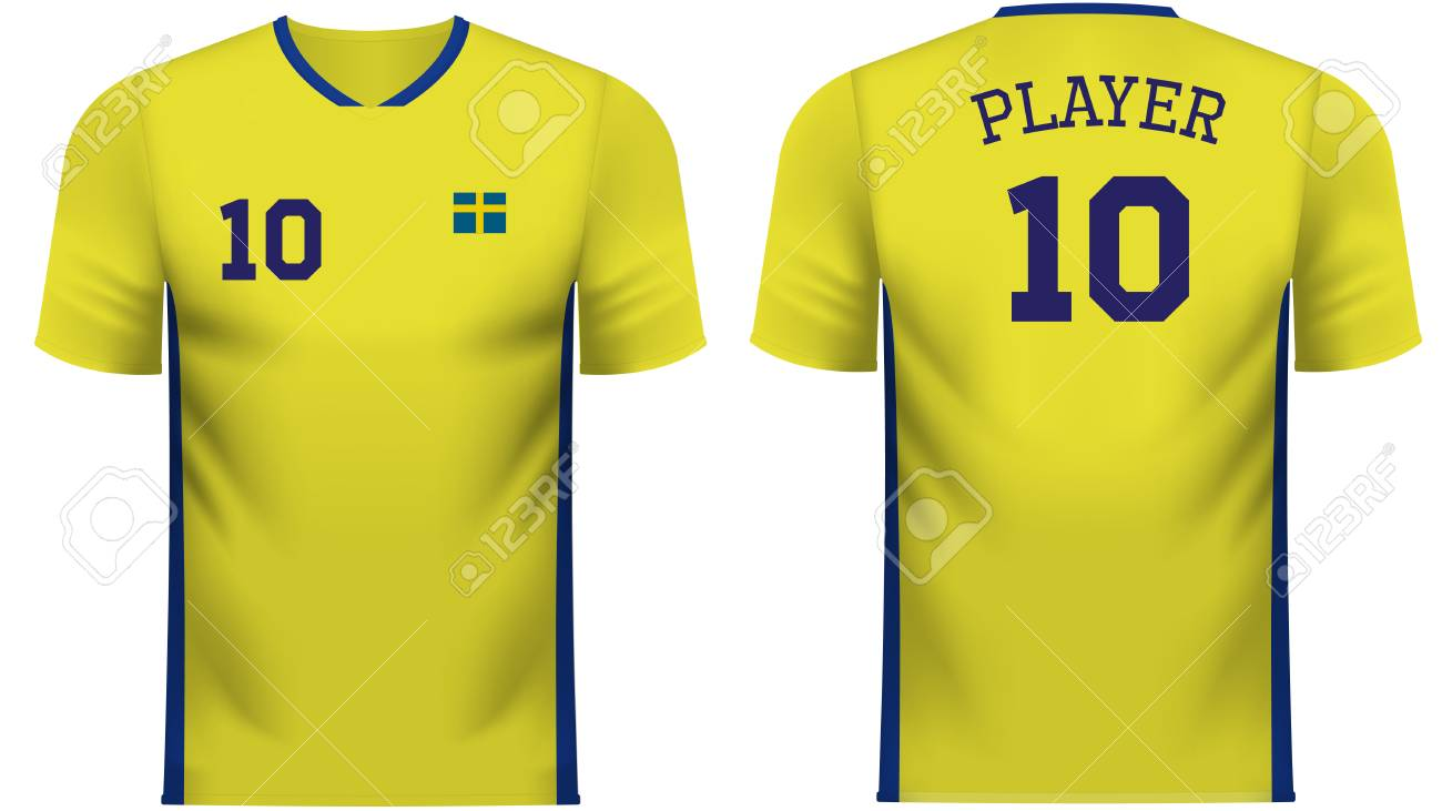 low priced d7738 3449c Sweden national soccer team shirt in generic country colors for..
