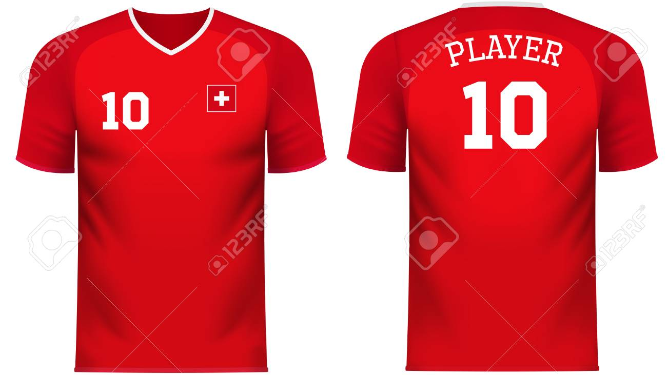 size 40 ceb5c b662d Switzerland national soccer team shirt in generic country colors..