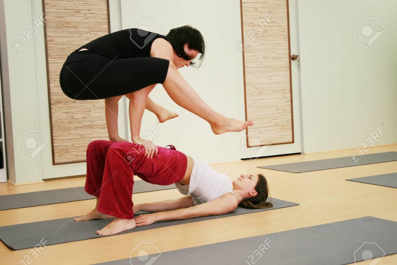 yoga in a studio Stock Photo - 3957723