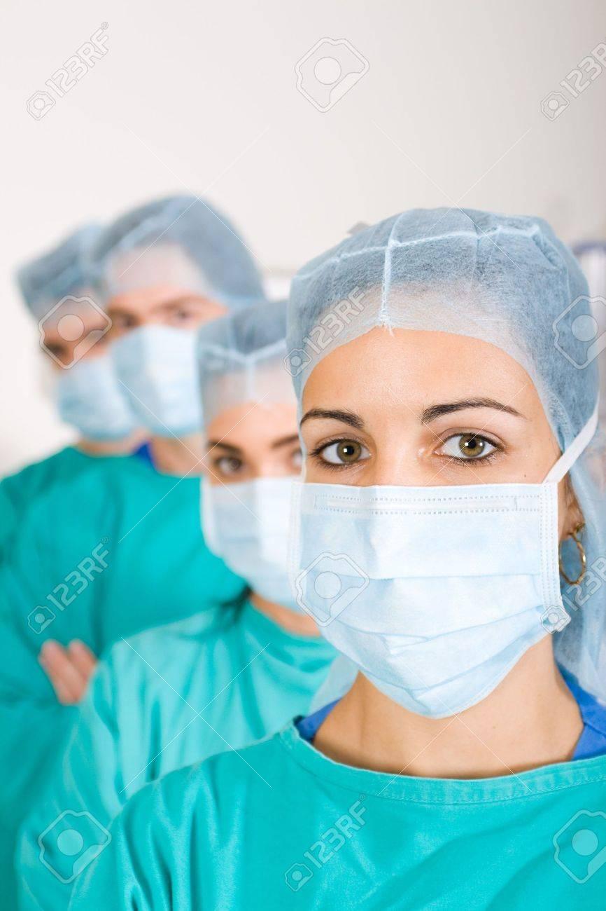 surgeons in isolation ward Stock Photo - 5118566