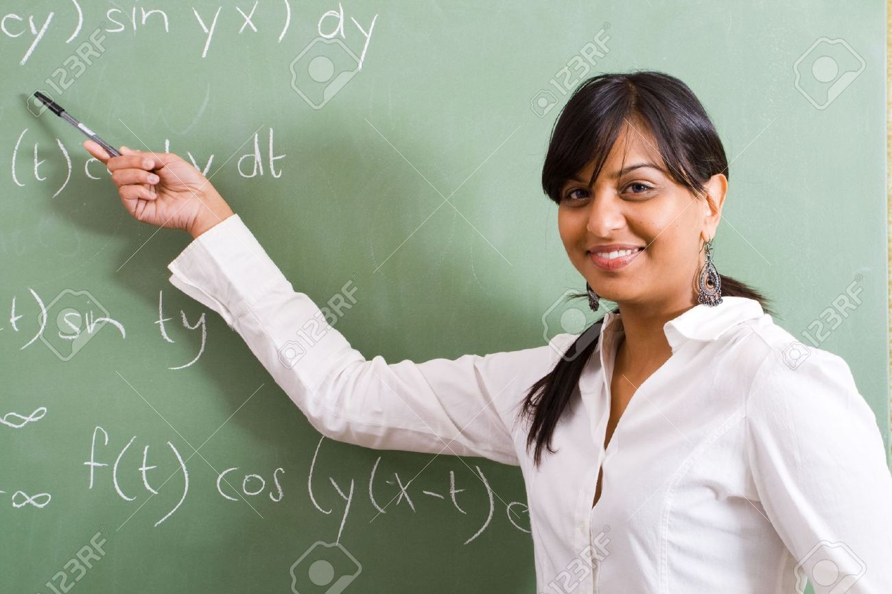 Indian Woman Teaching Maths Stock Photo, Picture And Royalty Free ...