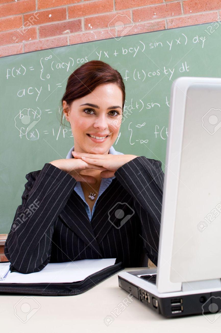 lovely maths teacher Stock Photo - 5125206