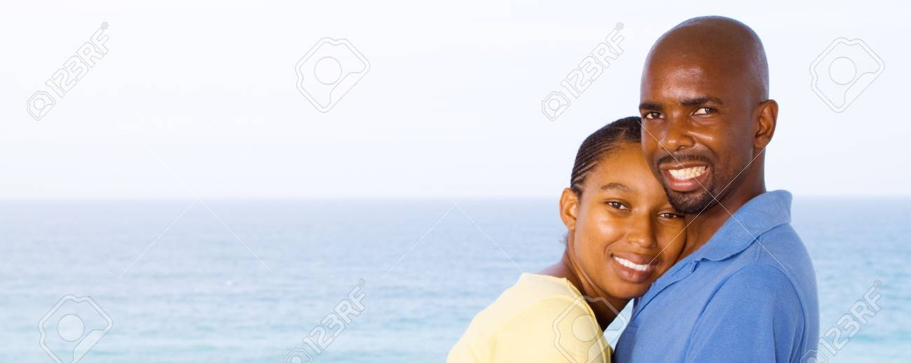 happy hugging african american couple Stock Photo - 6656181