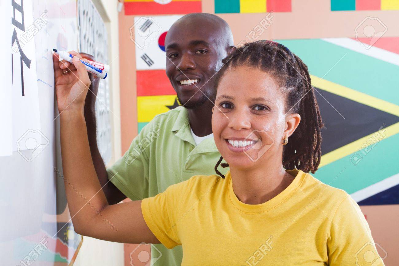 adult african students learning chinese Stock Photo - 6638954