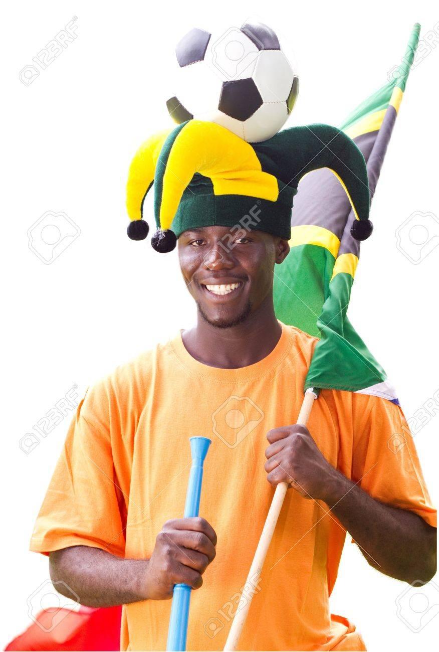 happy south african soccer fan Stock Photo - 6783997
