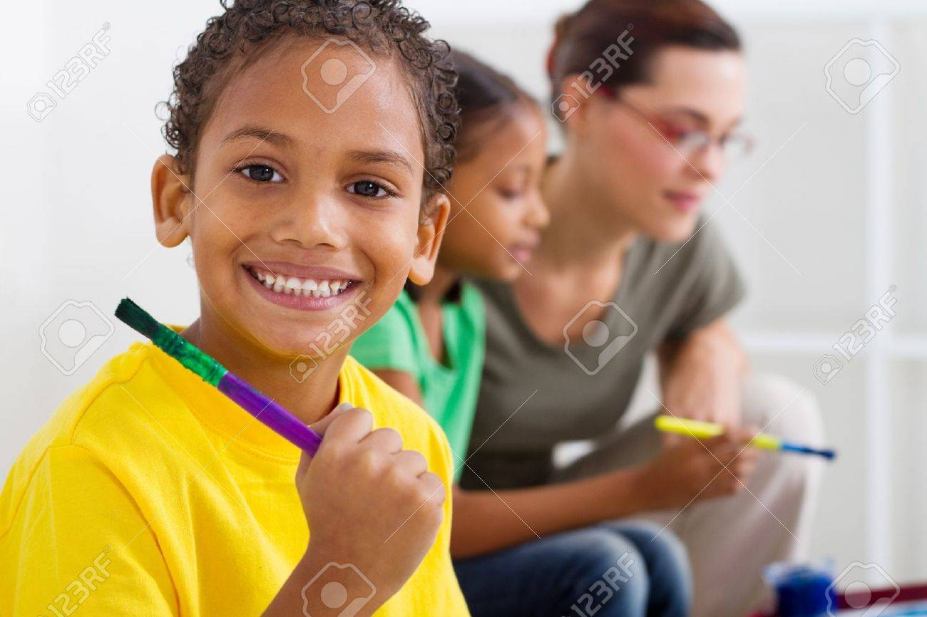 indian kids painting stock photos royalty free indian kids