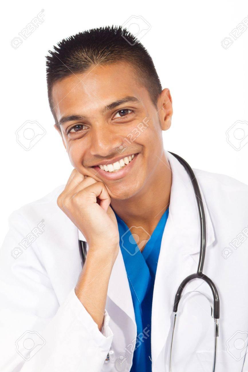 portrait of happy indian doctor Stock Photo - 7940085